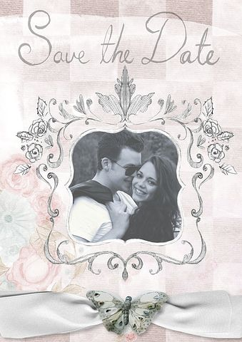 mock up save the date card